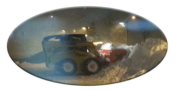 Suffolk Plowing Snow Pusher